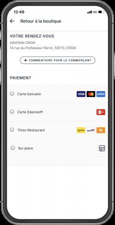 Paiement en ligne, carte bleue, tickets restaurants