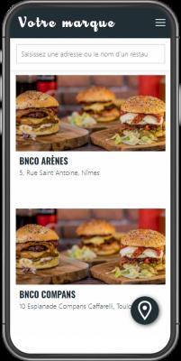 Marketplace marque blanche sur mobile restaurants
