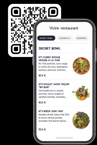 mobile-mockup menu digital